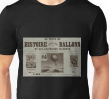 0055 ballooning Histoire populaire des ballons et des ascensions célèbres Unisex T-Shirt