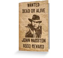 John Marston Dead or Alive Greeting Card