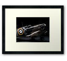 RAF Spitfire in the Hanger Framed Print