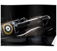 RAF Spitfire in the Hanger Poster