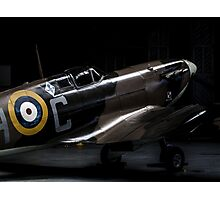 RAF Spitfire in the Hanger Photographic Print