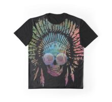 Chief Skull Watercolor Graphic T-Shirt