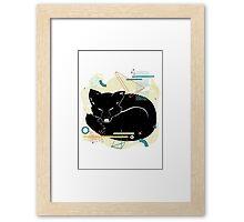 Sleeping Fox illustration Framed Print