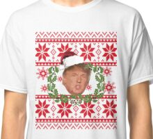 Ugly Christmas Sweater Nordic Knit Pattern Donald Trump  Classic T-Shirt