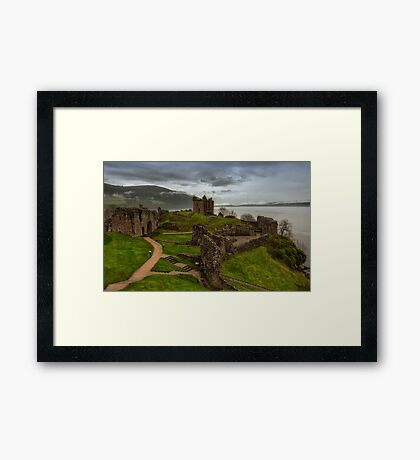 Urquhart Castle on Loch Ness Framed Print