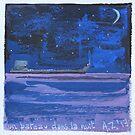 un bateau dans la nuit by AgnesZirini