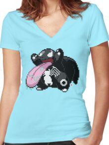 Lickivenom Women's Fitted V-Neck T-Shirt