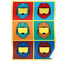 Warhol's Red vs Blue Poster