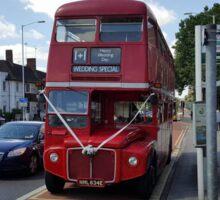 Wedding Bus wide Sticker