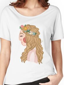 peacefull flower lady Women's Relaxed Fit T-Shirt