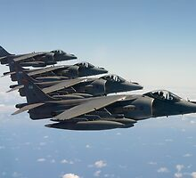 RAF Harrier 4-ship by captureasecond