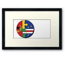 Cape Verdean Flag Transition  Framed Print