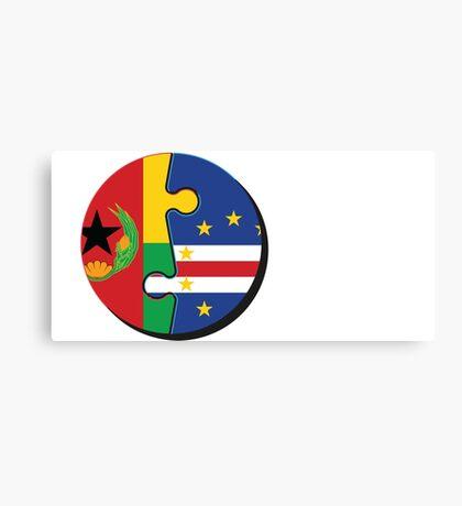 Cape Verdean Flag Transition  Canvas Print