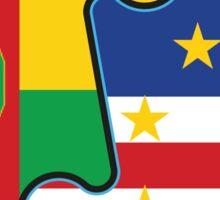 Cape Verdean Flag Transition  Sticker
