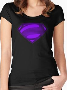 Alternate Super Purple Bizarro Symbol Women's Fitted Scoop T-Shirt
