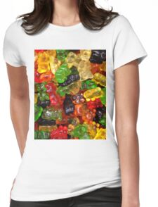 cute colorful sweet candy gummy bear  Womens Fitted T-Shirt