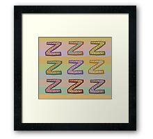 zzzzzz Framed Print