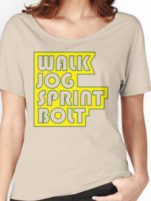Walk. Jog. Sprint. Bolt. Women's Relaxed Fit T-Shirt