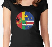 Cape Verdean Flag Transition  Women's Fitted Scoop T-Shirt