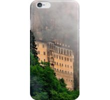 Sumela monastery in the clouds iPhone Case/Skin