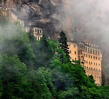 Sumela monastery in the clouds by Hercules Milas