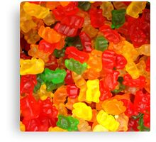 colorful sweet tooth foodie candy gummy bear  Canvas Print