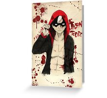 Jason Todd - Red Hood Greeting Card