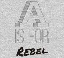 A is for Rebel One Piece - Short Sleeve