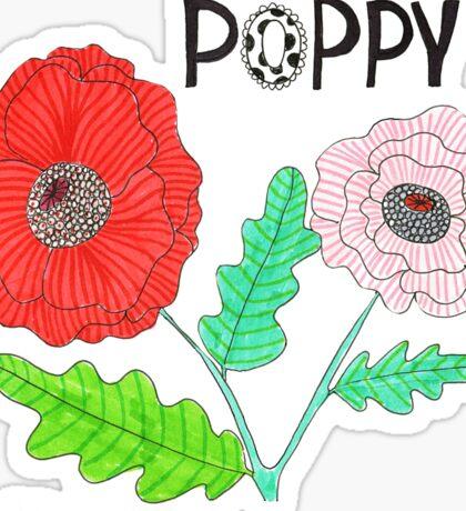 POPPIES - RED POPPY FLOWERS Sticker