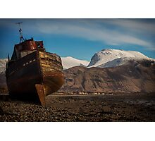 Boat at the foot of the Ben - Ben Nevis Photographic Print
