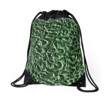 Green Swirls Drawstring Bag