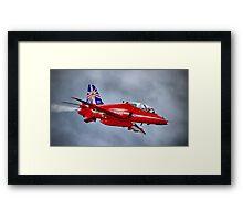 Red Arrow So Low ! - Farnborough 2014 Framed Print