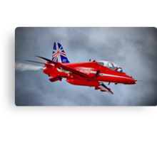 Red Arrow So Low ! - Farnborough 2014 Canvas Print