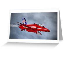 Red Arrow So Low ! - Farnborough 2014 Greeting Card