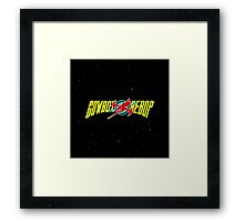 Cowboy Bebop Yellow Logo Framed Print