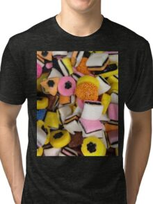 I love Licorice retro halloween licorice candy  Tri-blend T-Shirt