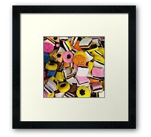 I love Licorice retro halloween licorice candy  Framed Print