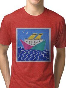 Paper boat Tri-blend T-Shirt