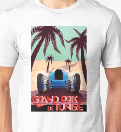 """GRAND PRIX of TUNISIA"" Vintage Auto Racing Print Unisex T-Shirt"