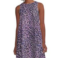 Purple Swirls A-Line Dress