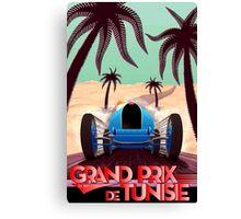 """GRAND PRIX of TUNISIA"" Vintage Auto Racing Print Canvas Print"