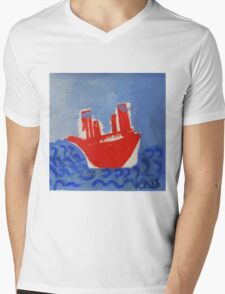 red boat Mens V-Neck T-Shirt