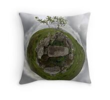 Tomb: Croaghbeg Court Tomb, Shalwy Valley, Donegal Throw Pillow