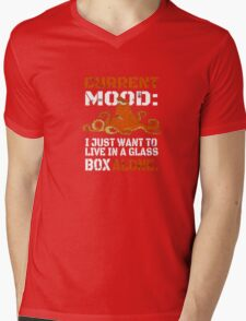 Current Mood I just want to live in glass box alone Mens V-Neck T-Shirt