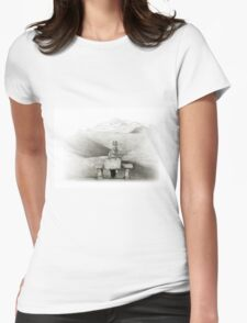 waiting in the desert Womens Fitted T-Shirt