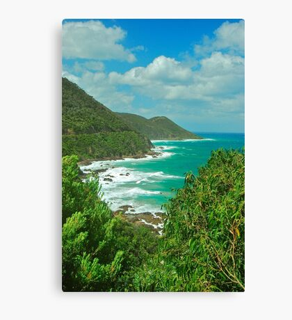 Ocean Road View Canvas Print