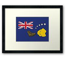 The Simpsons – Australian Flag, Boot, Australian Framed Print