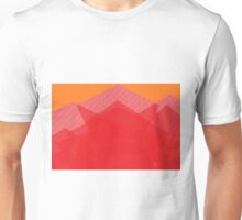 Colorful Red Abstract Mountain  Unisex T-Shirt