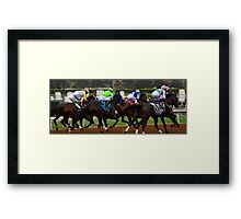 The Thoroughbreds- Away And Running Framed Print