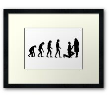 Evolved to Engagement Framed Print